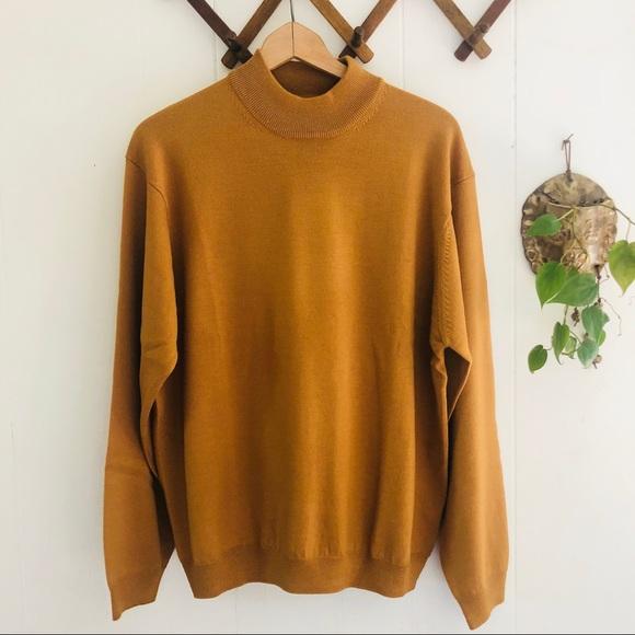 Pronto Uomo Other - Pronto Uomo Mustard Merino Wool Mock Neck Sweater